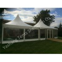 Wholesale Out side Clear PVC Fabric Wall high peak tent rentals , Pagoda Party wedding reception tents from china suppliers
