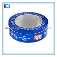 Quality small round shape metal candy tin box for sale