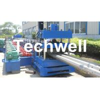 Wholesale 15KW Highway Guardrail Roll Forming Machine With 7 Rollers Leveling For W Beam Guardrail from china suppliers