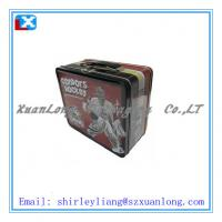 Wholesale handle tin box,handle tin can,lunch tin box with handle from china suppliers