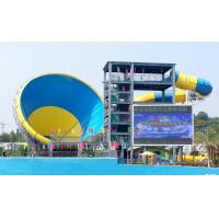 Wholesale Big Fiberglass Tornado Water Slide For Adults , 14.6m Platform Height from china suppliers
