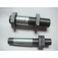 China Plumbing long screw thread steel pipe nipples on sale