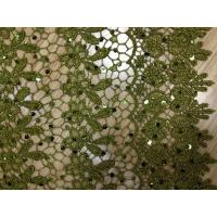 China Dark Green Chemical Lace Fabric Cotton ,Eyelet Lace Fabric on sale