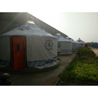 Circle Shaped Mongolian Yurt Tent With Worm - Preventing Bamboo Trips Material