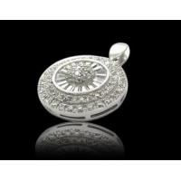 China 925 Sterling Silver Pendant + CZ Stone (WSPEZ00035) on sale