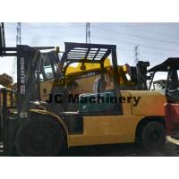 China Komats FD50 Yellow Used Diesel Forklift Trucks 5 Tonne For Material Handling on sale