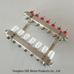 China 7 Loop/Port Underfloor Heating Manifolds With Adjustable Flow Meter for sale