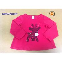 Wholesale Customized Children T Shirt 100% Cotton Long Sleeve Baby Girl Tee Shirts from china suppliers