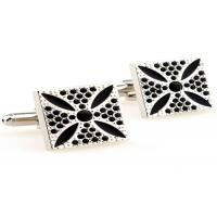 Wholesale White Nickel Free Stainless Steel Cufflinks With Die Casted And Plated Process from china suppliers