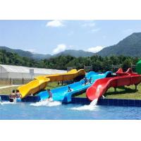 Quality Commercial Above Ground Pool Slide Fiberglass Aqua Funny Equipment for sale