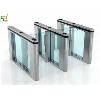 Wholesale Supermarket Swing Gate Barrier, 600mm Width Glass Arm Speed Turnstile System from china suppliers