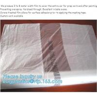 Buy cheap auto adhesive paint masking protect film 3.8*100m,HDPE car overspray masking from wholesalers