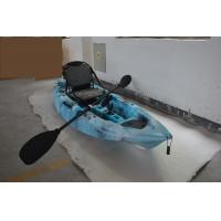 Wholesale HDPE Plastic Kayak Fishing Boats , Blue Camo Fishing Canoe Kayak Easy Car Top Mount from china suppliers