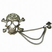 Wholesale Metal brooch with extended chain from china suppliers