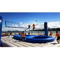 Wholesale durable Inflatable Bossaball Court For Inflatable Sports Games 12 Person from china suppliers
