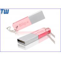 China Colorfull Acrylic Cool Slim 64GB Pen Drive Memory Disk Free Ball Chain for sale