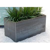 Wholesale 100cm Long Stainless Steel Rectangular Planter , Stainless Steel Flower Pots from china suppliers