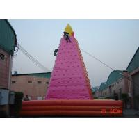 Wholesale Large Adult Inflatable Games , Wonderful Outdoor inflatable Rock Wall from china suppliers