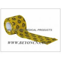 Wholesale Smile Face Prints Custom Printed Self Adhesive Bandage Vet Cohesive Flexible Wrap from china suppliers