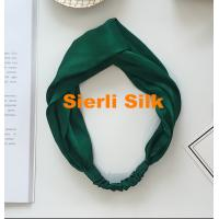 China 100% Pure Silk Charmeuse silk hair scrunchies on sale