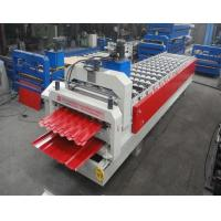 Wholesale Glazed Tile / Trapezoidal Double Sheet Roll Forming Machine Width 1250MM from china suppliers
