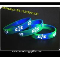 Sport silicone wristband/bracelet for sale Printing / Debossed / Embossed logo for sale