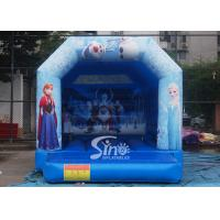 Commercial grade kids frozen bouncy castle with roof made of 610g/m2 pvc for sale
