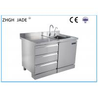 Wholesale Custom Stainless Steel Kitchen Worktop , Stainless Steel Bar Counter Large Space from china suppliers