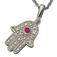 Wholesale CZ Stones Hamsa Hand Jewelry 925  Silver Hamsa Hand Themed Pendant from china suppliers