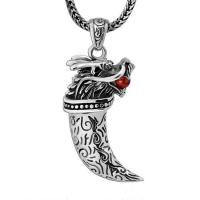 Wholesale Retro Sterling Silver Necklace with Dragon Pendant for Mens Jewelry(XH051823W) from china suppliers
