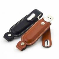 Buy cheap Handheld Waterproof Leather USB Flash Drive Solid Material With Customized OEM from wholesalers