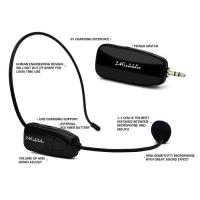 China 2.4G wireless headset megaphone with high sensative and micro USB charger support on sale