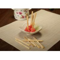Wholesale Hand Made Decorative Bamboo Skewers For Cocktail / Fruit Kabobs / Grilling from china suppliers