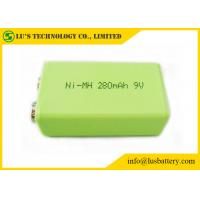 Wholesale 9V 280mah Prismatic Nimh Battery / 6F22 9v Battery High Energy Density 9V rechargeable battery from china suppliers