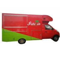 Awesome Petrol Mobile Kitchen Truck , Mobile Fast Food Van Gasoline Fuel Type for sale