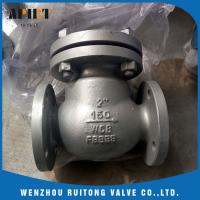 China swing check valve 150lb cast steel a216 wcb flange end API standard for sale