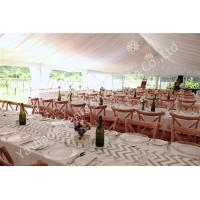China White Lining Adored Aluminum Framed Luxury Wedding Tents , Beach Wedding Marquee on sale