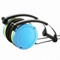 Buy cheap Wired headphones for iPhone/iPod/MP3/PC, foldable/rotatable, available in 7 from wholesalers