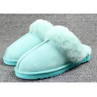 Wholesale Bedroom Women Sheep Wool Slippers 35-43 European Sizes For Men / Women from china suppliers