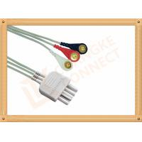 Wholesale White 3 Leads Nihon Kohden Ecg Cable ECG Lead Wires Cable 0.8M from china suppliers