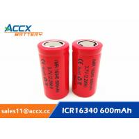 Wholesale 16340HP 600mAh 16340 3.7V li-ion battery 10-20C high rate power battery for electric toys, eircraft, from china suppliers