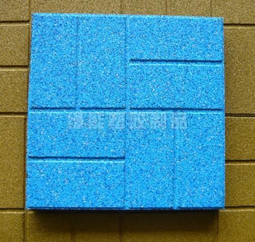 Quality Fire Retardant Custom Rubber Gym Floor Tiles / Outdoor Flooring for sale