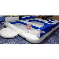 China Ocean Inflatable Water Toys / Floating Island Raft Lounge For Family on sale