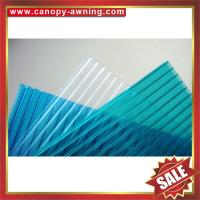 Buy cheap high quality greenhouse roofing polycarbonate PC sun multi four twin wall hollow sheet sheeting plate board panel from wholesalers