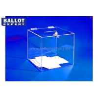 Quality Foldable Plastic Acrylic Boxes , Charity Collection Box With Lock for sale