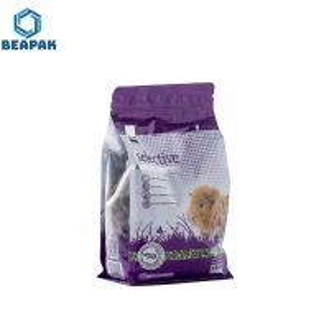 China Bottom Gusset Animal Feed 3.5kg Ziplock Pet Food Bags on sale