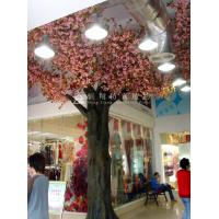 Wholesale high simulation large outdoor ornamental flowering plants artificial pink blossom tree from china suppliers