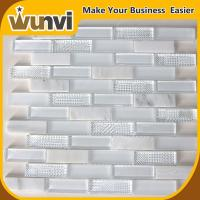 Buy cheap White Glass Stone Mosaic Tile Bathroom Transparent 298x298 mm from wholesalers