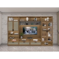 Buy cheap Integral Wall Cabinet Display Shelves And TV Floor Stand With tall made by china from wholesalers