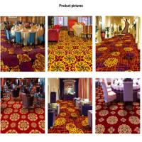 China Wilton Patterned Carpets Floral Red Printed Style 100% Polypropylene for sale